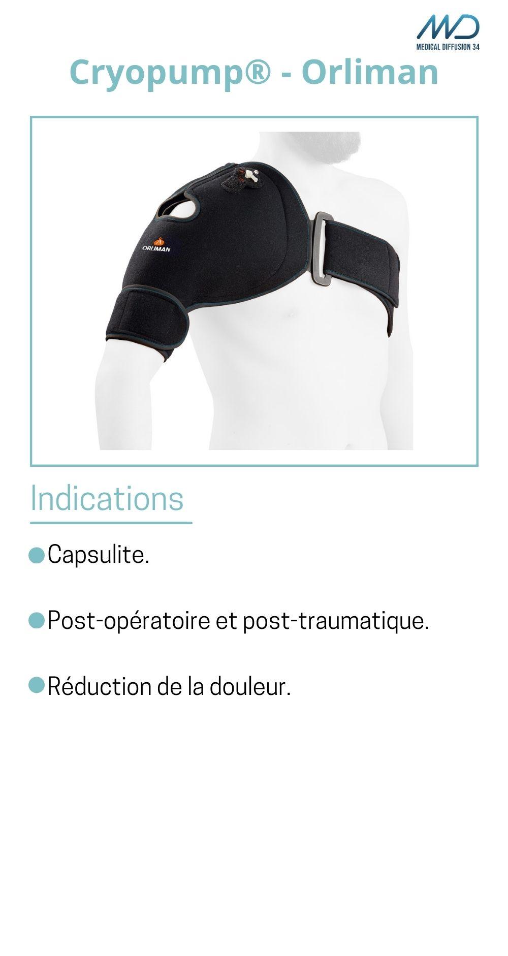 Cryopump - Orliman - Cryothérapie d'épaule - espace md santé