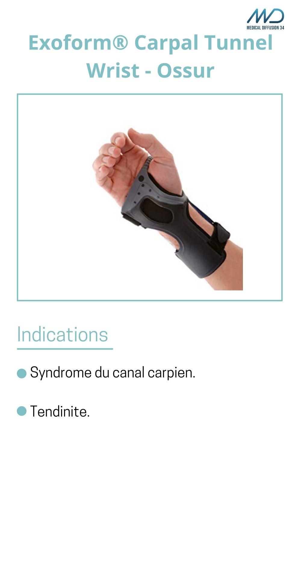 Exoform Carpal Tunnel Wrist - Ossur - orthèse de poignet - espace md santé