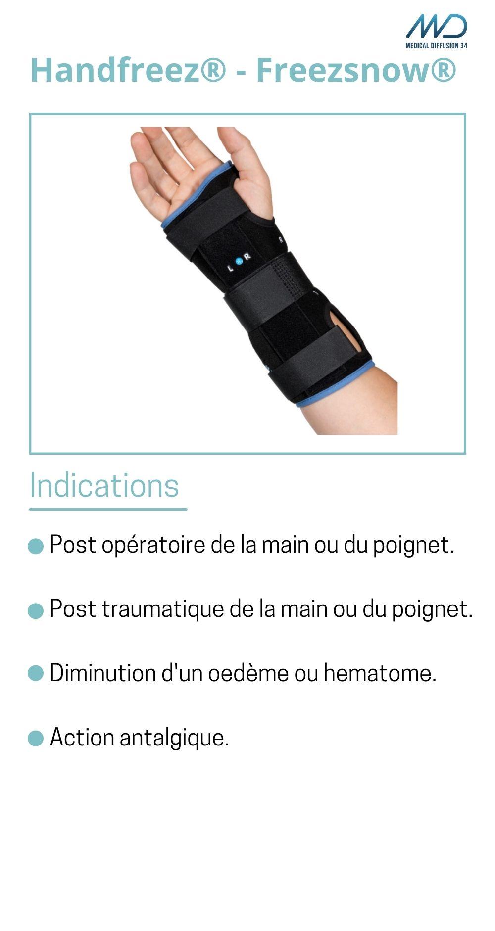 Handfreez - Freezsnow - orthèse de poignet cryothérapie - espace md santé