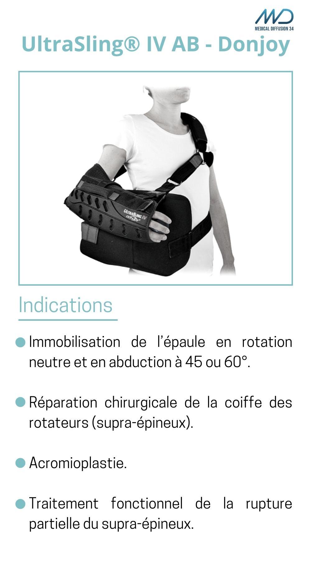 UltraSling IV AB - Donjoy - Orthèse d'épaule - espace md santé