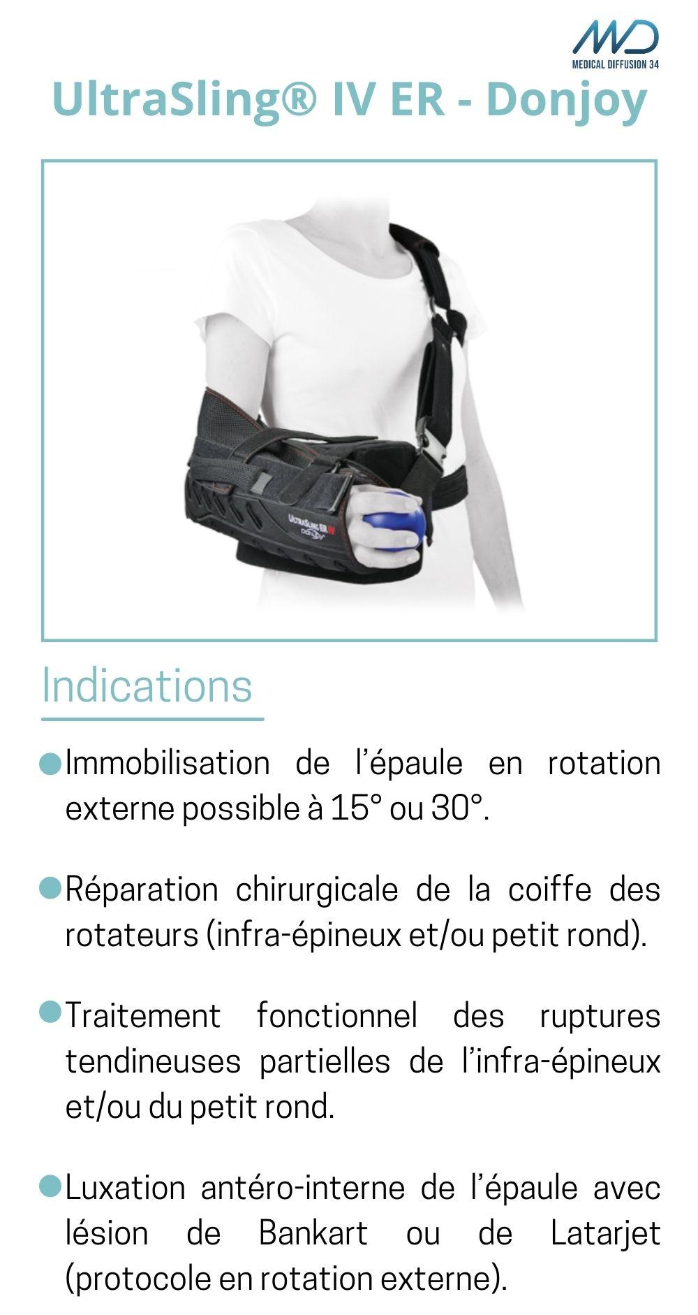 UltraSling IV ER - Donjoy - Orthèse d'épaule - espace md santé