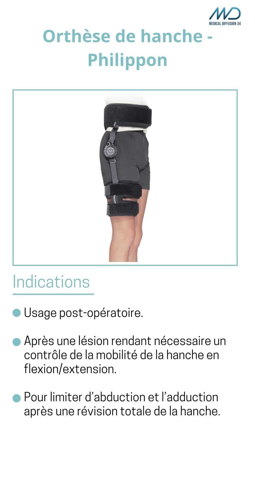 Orthèse de hanche - Philippon - espace md santé