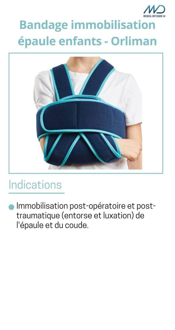 Bandage immobilisation épaule enfants - Orliman - espace md santé