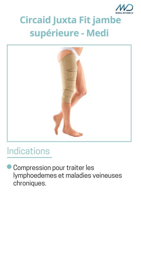Circaid Juxta Fit jambe supérieure - espace md santé- Medi