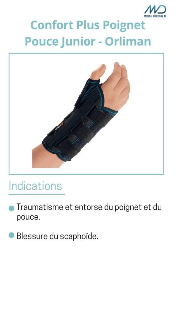 Confort Plus Poignet Pouce Junior - Orliman - espace md santé